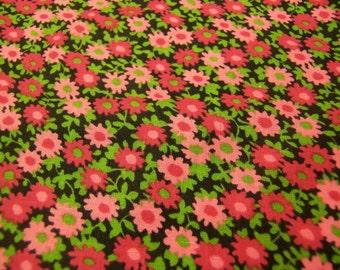 rich cranberry color flowers fabric