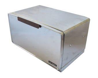 Mid Century Chrome Lincoln Ware Beauty Box Breadbox