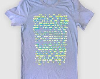 Pixel Warp (Ocean Blue) - Screen-printed T-Shirt