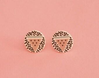 CLEARANCE Watermelon Earrings // Geometric Earrings // Graphic Earrings // Tropical Earrings // Shrink Plastic // Memphis Inspired