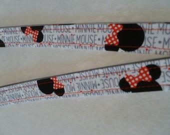 Fabric Lanyard, Minnie Mouse, ID Badge Holder, Keychain