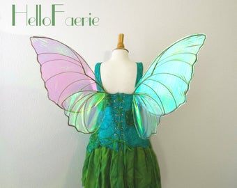 READY TO SHIP Spring Green Butterfly Fairy wings Fantasy Butterfly Fairy Iridescent Wings