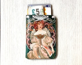 Card Holder, Art Nouveau Champenois Business Card Holder, Debit Card Holder,Oyster Card Holder,Camera Credit Card Case