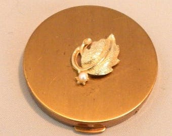 Vintage Sam Fink Cultured Pearl Compact, Never Used