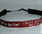 No Slip Gryffindor and Marauders Map Mashup Inspired Headband