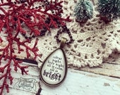 silent night holy night all is calm all is bright Christmas necklace