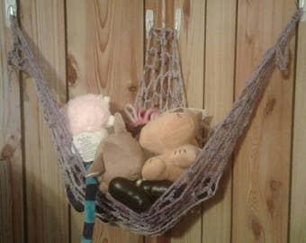 Plushies hammock, toy hammock, bath bomb hammock, net hammock, crochet hammock, organization hammocks, small hammock, large hammock