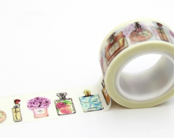perfume Washi tape -perfume stickers-craft supplies-card making- scrapbooking-planner stickers- erin condren-Love My Tapes