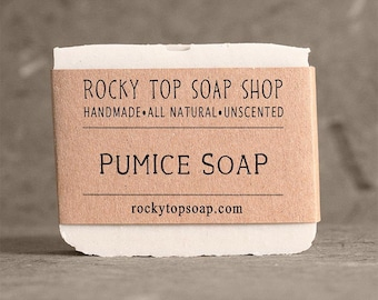 Pumice Soap -  Pumice Stone Soap, Homemade Soap, Cold Process Soap, Unscented Soap, Vegan Soap, Exfoliating Soap, Mens Soap