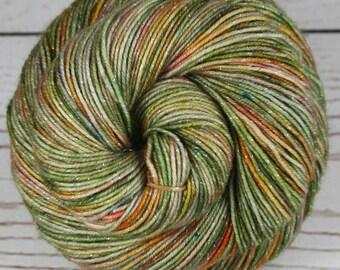 CHINESE GARDEN: Superwash Merino Wool-Lurex Sparkle - Fingering / Sock Weight Yarn - Hand dyed sock yarn - Indie dyed yarn - Variegated yarn