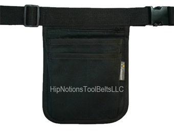 Physicians Black Cotton Canvas HipNotions Tool Belt Mini Computer Size
