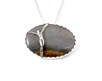 Silver Goddess Jewelry, I Surrender Jewelry, Sterling Letting Go Jewelry, Robin Wade Jewelry, Strength Jewelry Pendant, Sage Surrenders 2103
