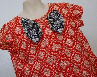 Girls Clothing,Girls Bow Dress, Girls School Dress ,Girls Portrait Dress, Girls Red Dress Sizes 5  & 6 only