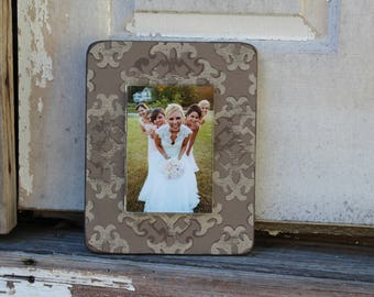 Handpainted reclaimed wood frame