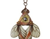 CHRISTMAS SALE 25% OFF / Keiki / Copper Butterfly Necklace with Secret Blades / Free Shipping