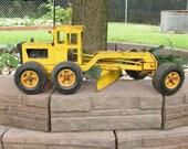 Vintage Metal Tonka Toy Tonka Road Grader Yellow Tonka Toy Rusty
