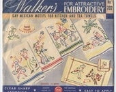 Gay Mexican Motifs - Hot Iron Embroidery Transfers - Walker's Brand - Opened & Some CUT - On Sale!