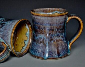 Pottery Mug Stoneware Ceramic Coffee Cup Handmade Mug Purple Plum