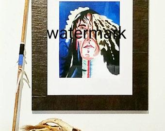 Art Print-Copy of Original Artwork ( Elder ) Print-Oil Painting-Painted- Poster-Gift Idea-Wall Art- American Indian-Picture-Art-Wall Hanging