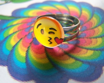 Emoji Ring Adjustable Clearance Sale
