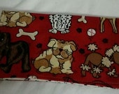 Dog Breeds Checkbook Cover Coupon Holder Clutch Purse Billfold Ready-Made