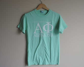 New Alpha Phi Comfort Colors Short Sleeve Shirt // Size SMALL // Ready To Ship