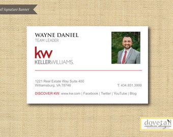 Digital File | Custom Email Signature Banner | Traditional | Any Color Any Company