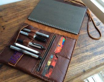 iPad portfolio, Leather organizer, Notepad cover, Leather iPad pro portfolio, Composition cover, Leather tablet cases, iPad pro folder