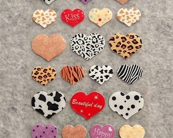 Mixed Cute PVC Heart Stickers