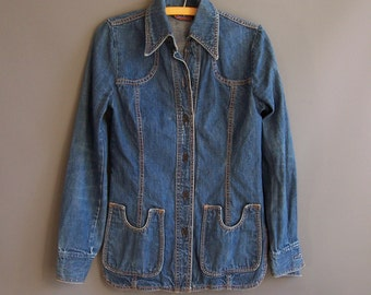 1970s denim shirt jacket 1970s denim shirt 70s denim jacket 1970s jean jacket shirt jac shirtjac Male brand