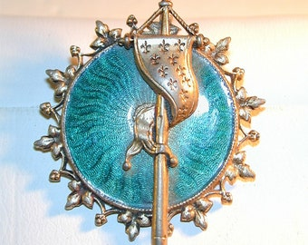 Vintage Accessorcraft Guilloche Enamel Pin Pendant
