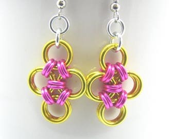 FINAL CLEARANCE Candace Chainmail Earrings