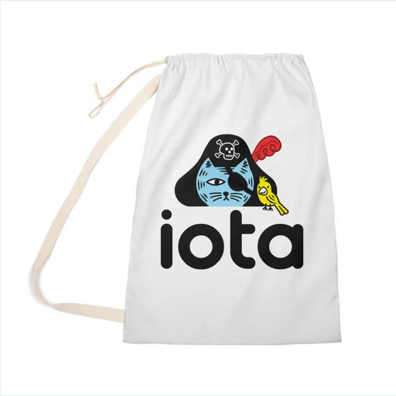 "iOTA Pirate Kitty - Laundry Bag - Clothing Bag - 28"" x 36"""