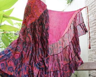 Ariel on Earth Ruffle Wrap Skirt - P0517-04