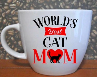 World's Best Cat Mom Handmade Mug