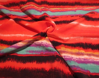 Colorful TieDye Look Polyester Shantung Fabric--By the Yard