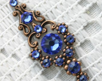 Sapphire Bindi in Oxidized Copper