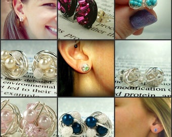 Upgrade to Sterling Silver Posts for any pair of stud earrings