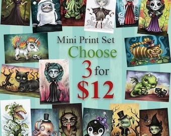 "Mini Print Holiday Sale - Choose Three 4' x 6"" prints for 12 Dollars"