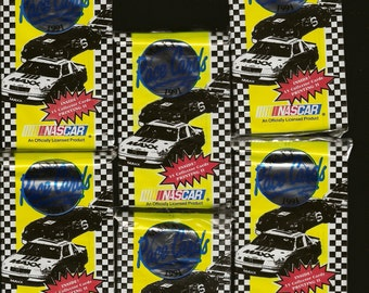 NASCAR 6 Unopened Sets 1991 MAXX Race Cards Collector Cards – 15 cards per set Great Gift Idea for Race Fan