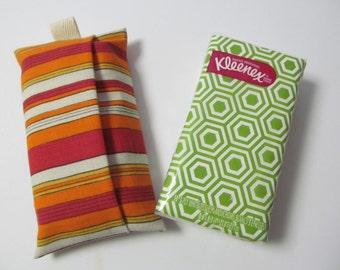 Tissue Case/Orange Stripe