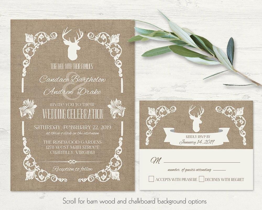 deer wedding invite | etsy, Wedding invitations