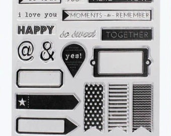 Speech Bubbles Stamp Rubber Stamps Travel Stamps for Traveller's Notebook