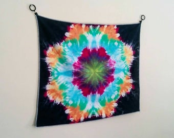 "Small Tie Dye Tapestry  -  ""Into Your Center"""