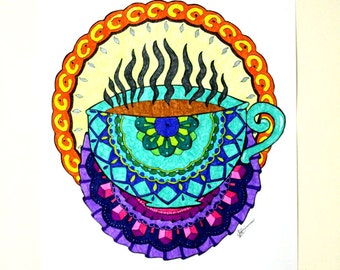 25 Coffee Colouring Pages for Adults: Coloring For Coffee Lovers (Printable Version)