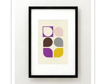 ARRAY v55 - Mid Century Style Contemporary Modern Abstract Art Print