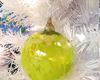 "NW Hand-Blown Glass Holiday/Christmas Ornaments ""Spring"""
