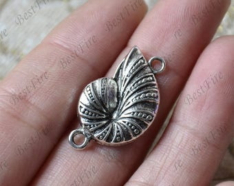 10 PCS Of Antique Silver sea snail Connector jewelry findings,metal finding,pendant beads,two holes Charms