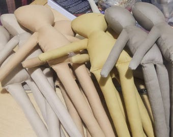 10 Unfinished Brown Skin Tone Dolls, Rag Doll DIY, Premade dolls, Raw dolls, Five Skin Tones