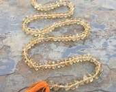 Citrine Rondelles, Citrine Beads, smooth rondelles, 14 inch strand, 5mm